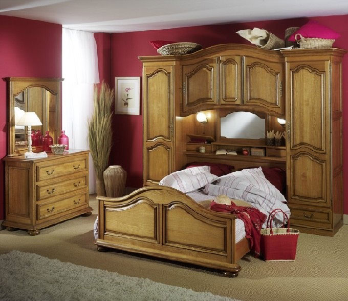 Chambres saint marcellin lit rustique saint marcellin par les meubles bodin literie tables en for Chambre bois massif adulte