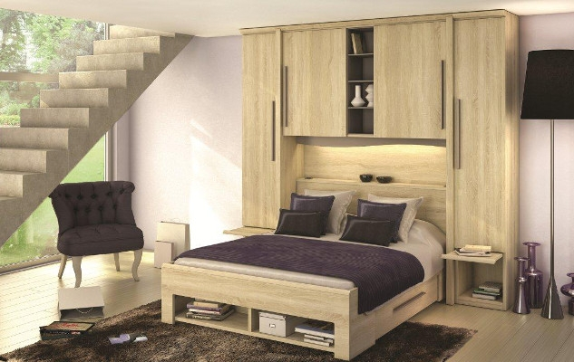 chambres saint marcellin lit pont avec rangement saint marcellin par les meubles bodin literie. Black Bedroom Furniture Sets. Home Design Ideas