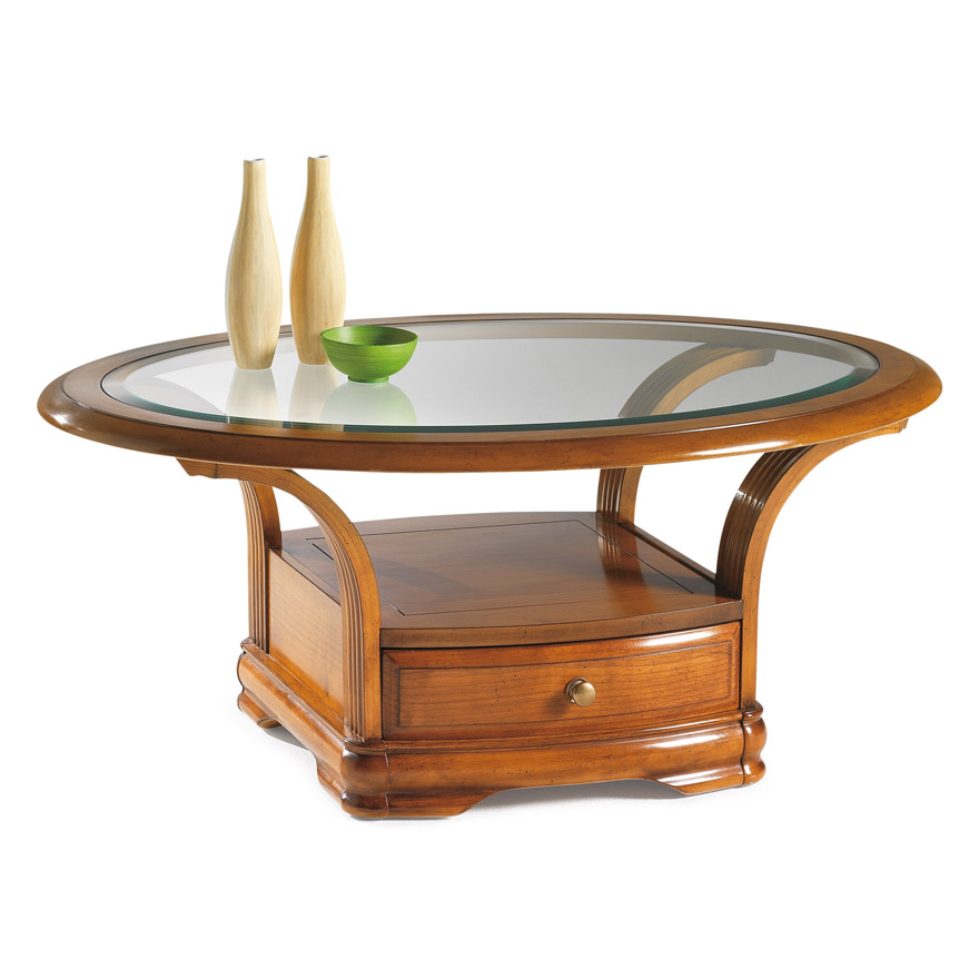 Tables basses saint marcellin table basse estilo saint marcellin par les meub - Table de salon ovale ...